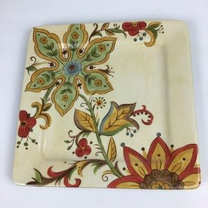 Pier 1 square carynthum floral serving plate.